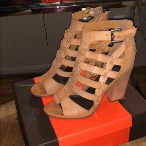 Tan Guess Sandal Heel